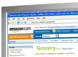 Amazon.com grocery page